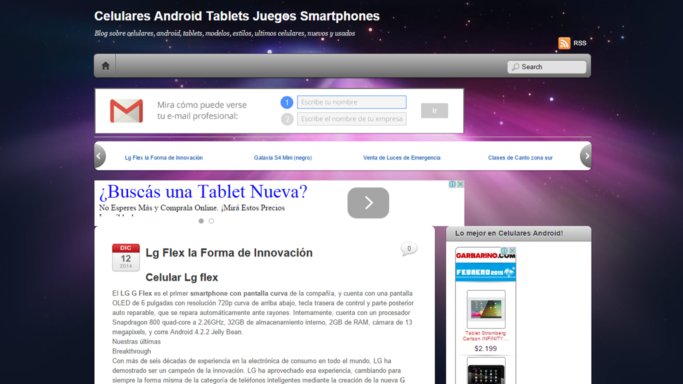 Celulares Android Web